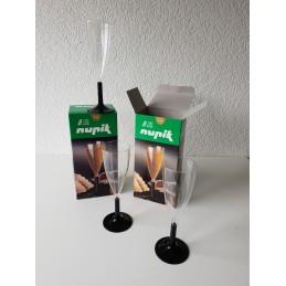 Flûte à champagne, pied noir