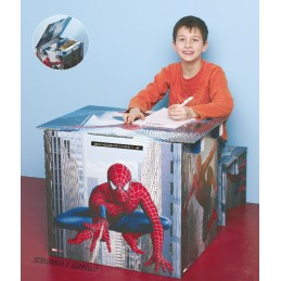 Tabouret + bureau Spidermann