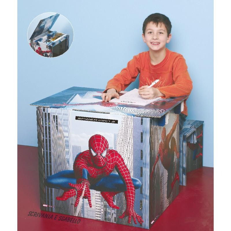 Tabouret + bureau Spidermann
