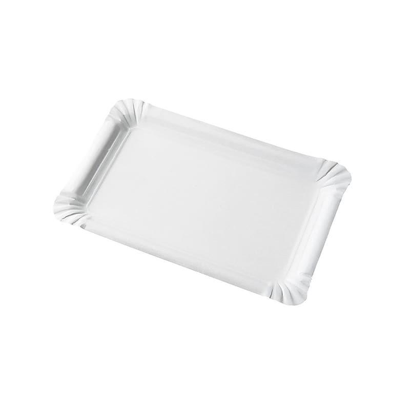 Assiette rectangle en carton 13 x 20 cm