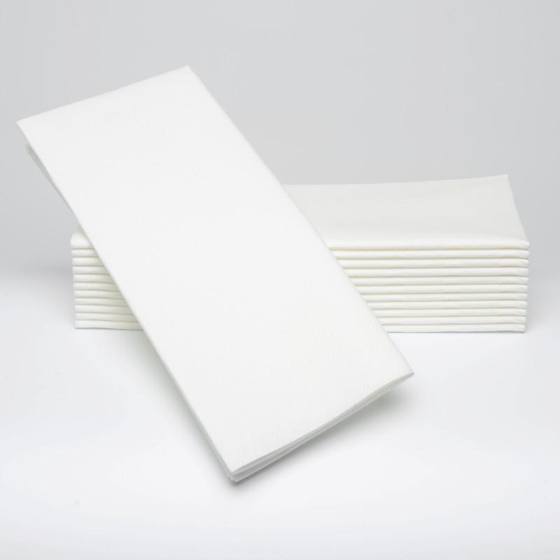 Serviettes blanches 1/8 pili 33 x 33 cm