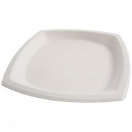 Assiette pulpe blanche carrée Ø 21 cm