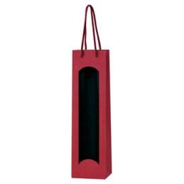 Pochette de présentation 1 bouteilles rouge / fenetre