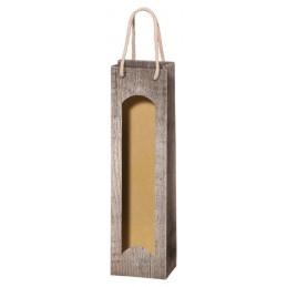 Pochette de présentation 1 bouteilles bois / fenetre