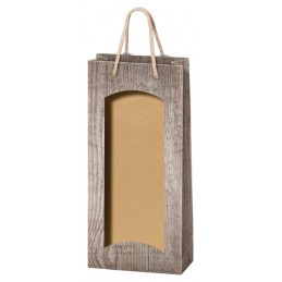 Pochette de présentation 2 bouteilles bois / fenetre