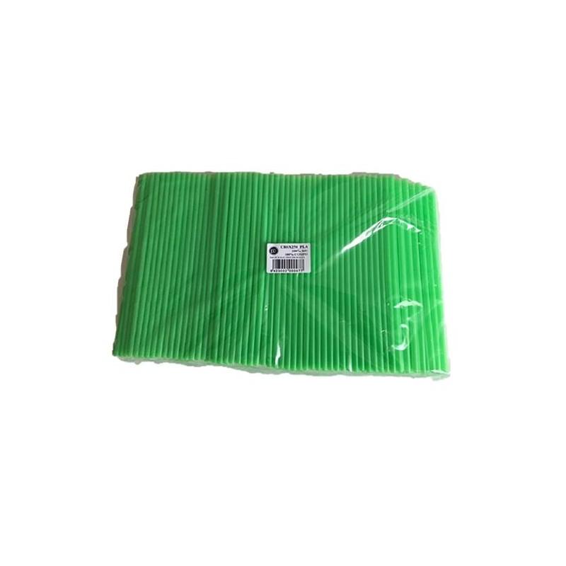 Paille biodégradable verte 230 mm BIO