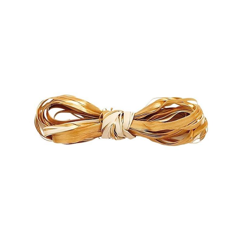 Raphia Basic bicolore bronze-crème