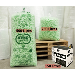 Flocons protection d\'emballage FLO-PACK GREEN BIO 250 LITRES