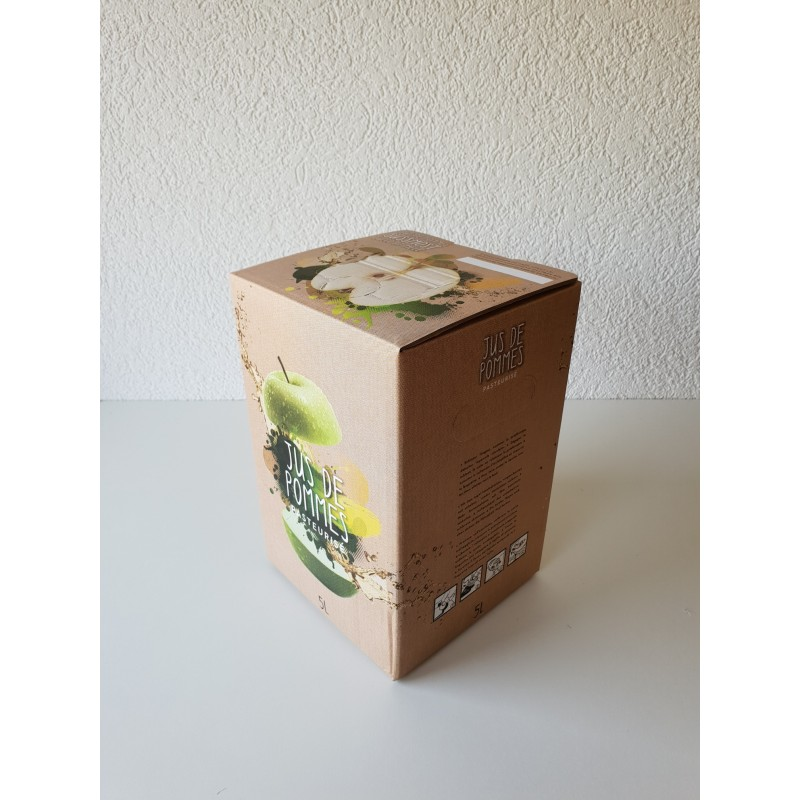 Bag-in-Box 5 Litres Pomme Flexo Brun New