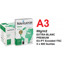Papier photocopie Navigator A3 80g/m2