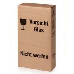 Carton poste  pour coffret 3 bouteilles