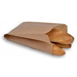 Sac à pain/croissant n°5 en papier kraft brun