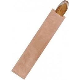 Sac à pain/croissant n°FLUTE en papier kraft brun