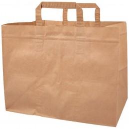 Sacs cabas en papier kraft brun (80g/m²) 32x15x35cm