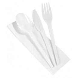 Set de couverts fourchette, couteau, serviette + cuillère