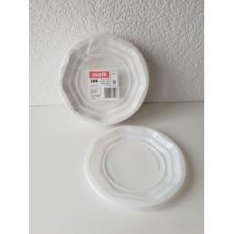 Assiette Plate blanche à dessert 165mm