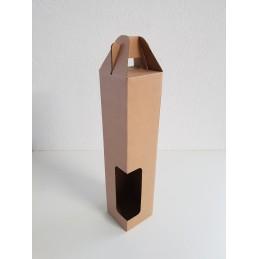 Portable 1 bouteille brun