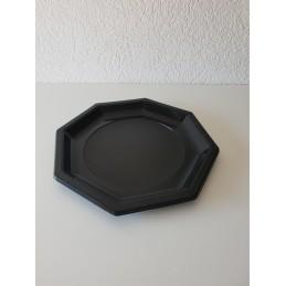 Assiettes octogonales 240mm noir